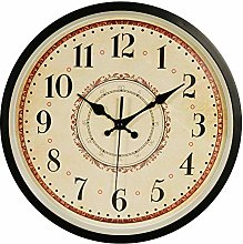 JUSTUP Silent Wall Clock,12in Non-Ticking Battery