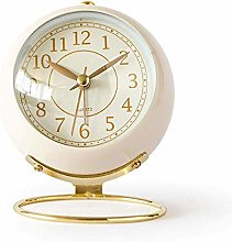 JUSTUP Small Alarm Clock,Classic Analogue Quartz