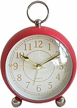 JUSTUP Small Table Clock,4 inch Classic Analogue