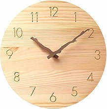 JUSTUP Wooden Wall Clock,10 in Country Style