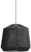 Jute black lampshade