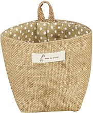 Jute Cotton Linen Storage Organizer Bags Stripe