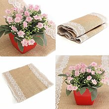 Jute Lace Table Runner Christmas Decor Party