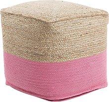 Jute Pouffe Pink KIRAMA