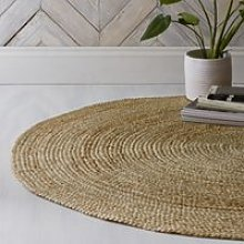 Jute Round Rug, Natural, One Size
