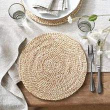 Jute Woven Placemat, Natural, One Size