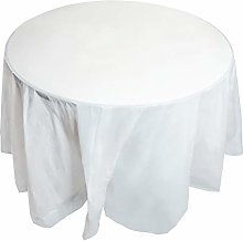 Juvale 12-Pack White Plastic Tablecloth - Round