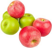 Juvale Fake Fruit Apples (Set of 6) - Artificial