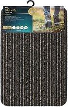 JVL - Infinity Entrance Door Mat, Brown, 50cm x