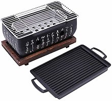 JVSISM 2-4 People Japanese Barbecue Grill Portable