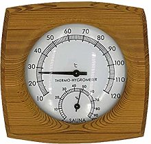 JVSISM Sauna Hygrothermograph Thermometer Hygrometer Sauna Room Accessory for House Offices Workshops Schools Market Warehouses
