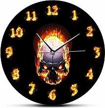 JWDSJHN Co.,ltd Wall Clock Digital Burning Modern
