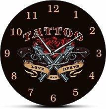 JWDSJHN Co.,ltd Wall Clock Gun And Rose Love And