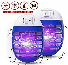 JX 2Pcs Electric UV Light Mosquito Killer Insect