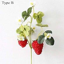 JXD Artificial Fruit Strawberry Artificial Plant