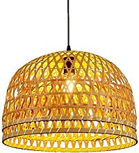 JXINGZI Chinese Pastoral Bamboo Woven Chandeliers