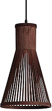 JXINGZI Modern Japanese Hanging Lamp Bamboo Woven