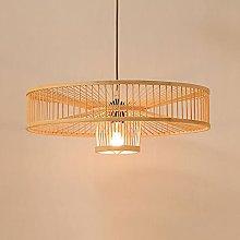JXINGZI Restaurant Pendant Lamp Bamboo Weaving