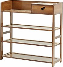 JXJ 3 Tier Bamboo Bench Shoe Rack Space Saving