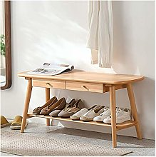 JXJ Nordic Solid Wood Shoe Changing Stool Modern