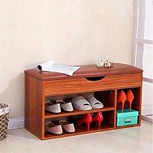 JXJ Wooden shoe rack Cabinet cabinet Ottoman stool