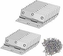 JXJH Folding Butt Hinges 304 Stainless Steel 3