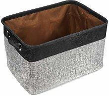 JXJJD Foldable Fabric Storage Bin with Handle,