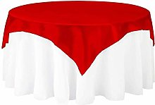 JXQ Satin Square Tablecloth,Satin Table Overlay