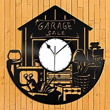 jxu Garage sale vinyl wall clock unique gifts for