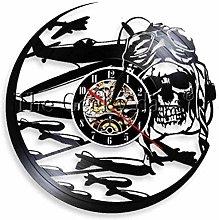 jxu Vinyl Clock Skull Aviator Helmet Trendy Modern