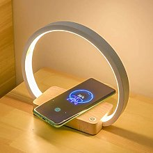 JXXU Bedside Lamp Wireless Charger LED Desk Lamp