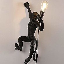 JXYHZD Hemp Rope Monkey Lamp Ceiling Lamp Creative