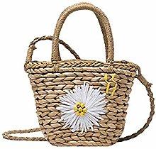 JY Ms Retro Handbag Shoulder Bags Woven-Straw