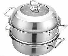 JY&WIN 304 stainless steel steamer/pot, 3-layer