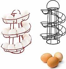 JYang Spiral Egg Holder, Vintage Spiral Egg Basket