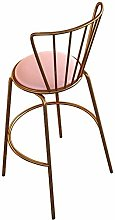 JYDQM Chairs,Bar Stool with Backrest and Velvet