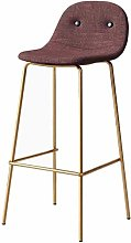 JYDQM Chairs,Bar Stool with Backrest Barstools