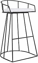 JYDQM Chairs,Bar Stool with Backrest Modern Iron