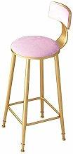 JYDQM Chairs,Bar Stool with Soft Velvet