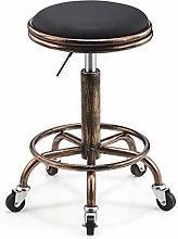 JYDQM Chairs,Retro Steel Work Stool Hairdresser