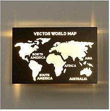 JYDQM Wall Lamps,Creative World Map Wall Light,20W