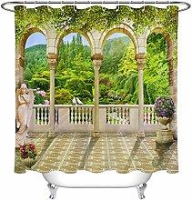 JYEJYRTEJ Balcony green mountain Decorative shower