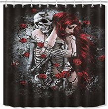 JYEJYRTEJ Beauty and skeleton death rose