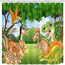 JYEJYRTEJ Cartoon dinosaur Decorative shower