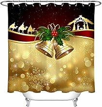 JYEJYRTEJ Christmas bell Decorative shower curtain