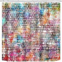 JYEJYRTEJ Color graffiti wall Decorative shower