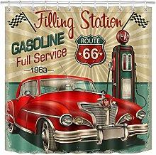 JYEJYRTEJ Filling station retro car Decorative