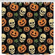 JYEJYRTEJ Halloween Smiling Pumpkin Skull