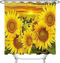 JYEJYRTEJ Sunset sunflower Decorative shower