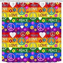 JYEJYRTEJ Symbol of hippie Decorative shower